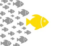 Leadership Concepts with Fish Royalty Free Stock Photo