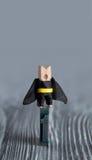 Leadership conceptual image. Clothespin superhero Royalty Free Stock Photo