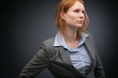 Leadership - Confident Business Woman Royalty Free Stock Images