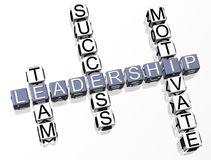 Leadership Crossword Royalty Free Stock Photo