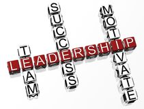Leadership Crossword Stock Images