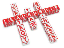 Leadership Crossword Royalty Free Stock Photography