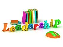 Leadership 3d inscription bright volume letter Stock Photography