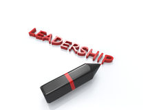 Leadership 3d word concept. Isolated white background Royalty Free Stock Images