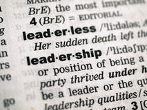Leadership definition. In a dictionary Stock Image