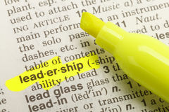 Leadership Definition Royalty Free Stock Image