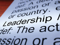 Leadership Definition Closeup Showing Achievement. Leadership Definition Closeup Shows Active Management And Achievement Royalty Free Stock Image