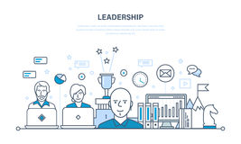 Leadership and development, management, career growth, success in the work. Leadership and leadership development, management, career growth, success in the Royalty Free Stock Image