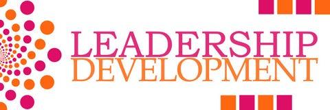 Leadership Development Pink Orange Dots Horizontal Royalty Free Stock Photo