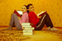 Leadership, Education and development of life skills. Developmen. Leadership, Education and development of life skills. Children read books. Development Royalty Free Stock Photos