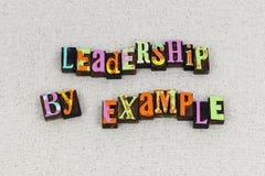 Leadership example management leader teacher