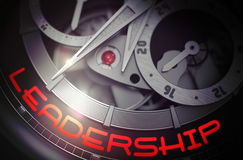 Leadership on the Fashion Watch Mechanism. 3D. Stock Image
