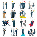 Leadership Flat Color Icons vector illustration