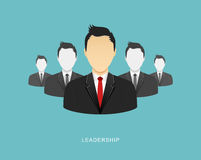 Leadership flat illustration Stock Photography
