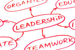 Leadership Flow Chart Red Pen Stock Images