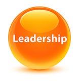 Leadership glassy orange round button Royalty Free Stock Image