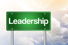 Leadership Green Road Sign Royalty Free Stock Image