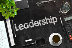 Leadership Handwritten on Black Chalkboard. 3D Rendering. Royalty Free Stock Photography