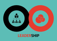Leadership  icon design for infographics Stock Image