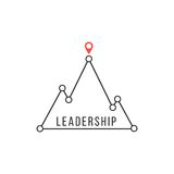 Leadership icon like mountain peak Royalty Free Stock Photography
