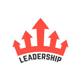 Leadership icon with red crown Stock Photos