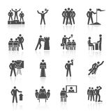 Leadership Icons Black Stock Photography