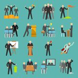 Leadership icons flat Royalty Free Stock Photography