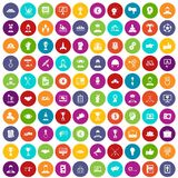 100 leadership icons set color. 100 leadership icons set in different colors circle isolated vector illustration Stock Photo