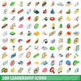 100 leadership icons set, isometric 3d style. 100 leadership icons set in isometric 3d style for any design illustration royalty free illustration