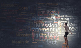 Leadership ideas and mission Stock Photo
