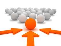Leadership illustration Stock Images