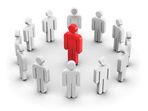 Leadership and individuality concept Stock Photo