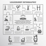 Leadership infographic set Royalty Free Stock Photos