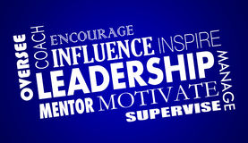 Leadership Inspire Coach Motivate Word Collage Royalty Free Stock Image