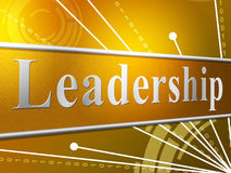 Leadership Leader Represents Manage Authority And Led Stock Images