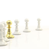 Leadership: light chess background Stock Image