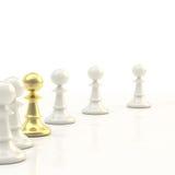 Leadership: light chess background Stock Image
