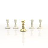 Leadership: light chess background Royalty Free Stock Photos