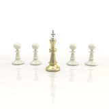Leadership: light chess background Royalty Free Stock Image