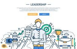 Leadership line flat design website banner Stock Image
