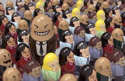 Leadership. Make different  person standout from the crowd Stock Photo