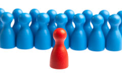 Leadership, management concept, pawn figures Stock Photos