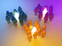 Leadership. Management of groups. 3d illustration Royalty Free Stock Images