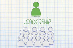 Leadership, management and individualism Royalty Free Stock Image