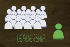 Leadership, management and individualism Royalty Free Stock Photography