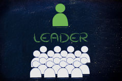 Leadership, management and individualism Stock Image
