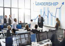 Leadership Management Skills Leader Support Concept. Business Leadership Management Skills Leader Support Concept royalty free stock photos