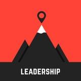 Leadership metaphor with black mountains Stock Image