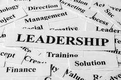 Leadership And Other Related Words. Leadership concept with some related words paper Royalty Free Stock Images