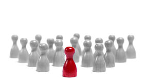 Leadership. People are following their leader, loosing their individuality Stock Images